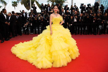 Araya Hargate 'Sink Or Swim (Le Grand Bain)' Red Carpet Arrivals - The 71st Annual Cannes Film Festival
