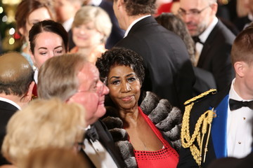 Aretha Franklin President Barack Obama Delivers Remarks at Kennedy Center Honors Reception