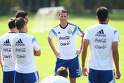 Maxi Rodriguez of Argentina during a training session at Cidade do Galo on June 20, 2014 in Vespasiano, Brazil.
