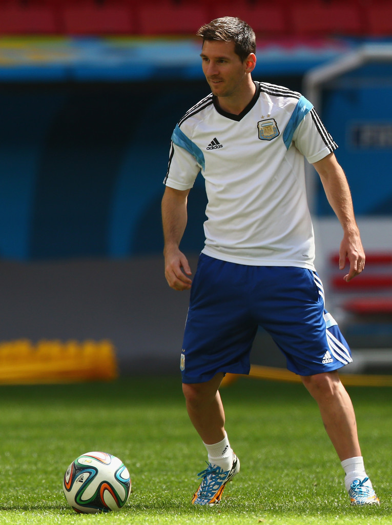 Lionel Messi Photos Argentina Training Amp Press Conference 2014 FIFA World Cup Brazil 7287