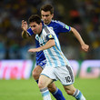 Lionel Messi Emir Spahic Photos