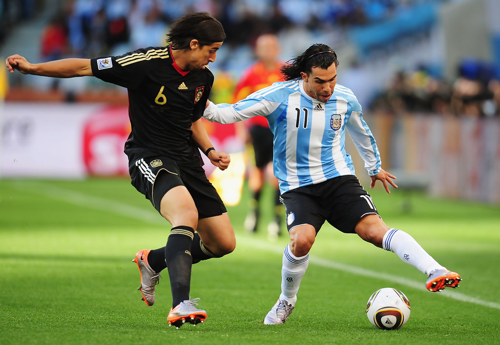 Carlos Tevez in Argentina v Germany: 2010 FIFA World Cup ...