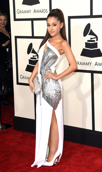 57th GRAMMY Awards - Arrivals [red carpet,clothing,carpet,dress,fashion model,shoulder,flooring,fashion,neck,leg,arrivals,ariana grande,grammy awards,staples center,los angeles,california,the 57th annual grammy awards]
