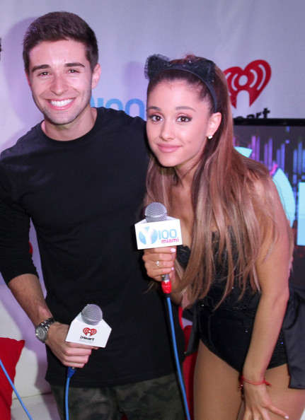 Backstage at Y100's Jingle Ball [event,muscle,party,leisure,drink,jake miller,ariana grande,jingle ball 2014 - backstage,miami,fl,bb t center,y100,jingle ball]
