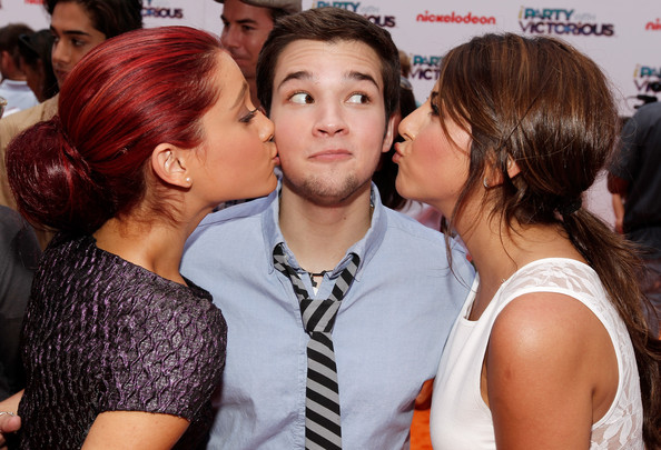"Ariana Grande Actors Ariana Grande, Nathan Kress and Daniella Monet arrive at Nickelodeon's exclusive premiere for the upcoming primetime TV event of the summer. ""iParty with Victorious,"" Saturday, June 4, 2011 at The Lot in Los Angeles. ""iParty with Victorious"" premieres Saturday, June 11, 2011 at 8 p.m. (ET/PT) and stars the casts of Nickelodeon's hit series iCarly and Victorious."