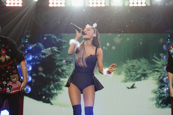 Y100's Jingle Ball Show [performance,stage,performing arts,thigh,event,leg,performance art,singing,pop music,talent show,ariana grande,miami,fl,bb t center,y100,jingle ball 2014 - show]