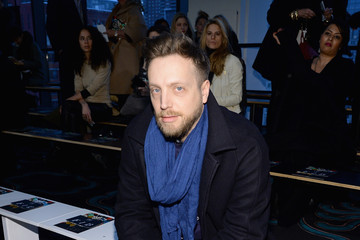 Ariel Foxman Front Row at the Diane Von Furstenberg Show