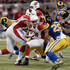 David Johnson Mark Barron Photos - Mark Barron #26 of the St. Louis Rams closes in on David Johnson #31 of the Arizona Cardinals as he carries the ball in the second quarter at the Edward Jones Dome on December 6, 2015 in St. Louis, Missouri. - Arizona Cardinals v St Louis Rams