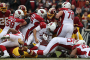 Quarterback Blaine Gabbert #7 of the Arizona Cardinals carries the ball in the second quarter against the Washington Redskins at FedEx Field on December 17, 2017 in Landover, Maryland.