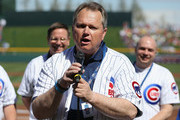 Mayor of the city of Mesa, Scott Smith speaks in dedication to Cubs Park before the spring training game between the Chicago Cubs and the Arizona Diamondbacks on February 27, 2014 in Mesa, Arizona