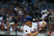 Jay Bruce #19 of the New York Mets bats against the Arizona Diamondbacks  during their game at Citi Field on May 18, 2018 in New York City.