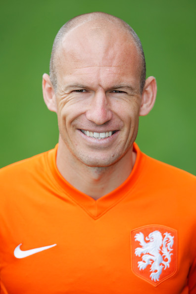 Arjen Robben Arjen Robben of the Netherlands poses prior to the ...