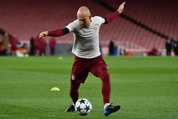 Arjen Robben FC Bayern Muenchen Training Session and Press Conference
