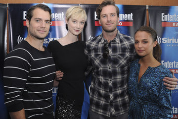 Armie Hammer Henry Cavill SiriusXM's Entertainment Weekly Radio Channel Broadcasts from Comic-Con 2015