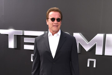 Arnold Schwarzenegger Celebs Arrive at the Premiere of Paramount Pictures' 'Terminator Genisys'