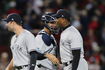 Aroldis Chapman Divisional Round - New York Yankees vs. Boston Red Sox - Game Two