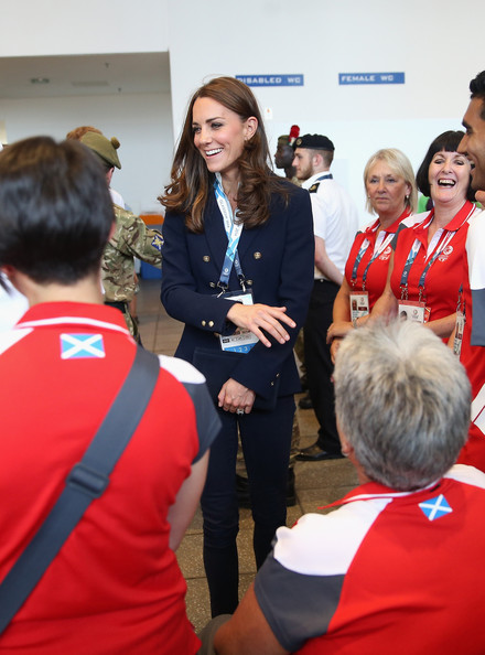 Catherine, Duchess of Cambridge meets Games Volunteers in the SECC as she attends Commonwealth games on July 28, 2014 in Glasgow, Scotland.