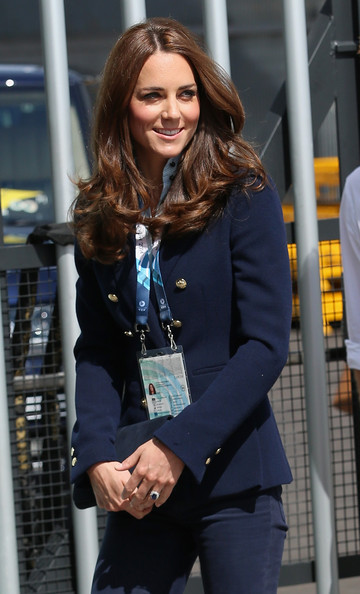 Catherine, Duchess of Cambridge arrives at the SECC Hydro for the Gymnastics during the 20th Commonwealth Games on July 28, 2014 in Glasgow, Scotland.