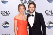 Lauren Gregory and Thomas Rhett attend the 48th annual CMA Awards at the Bridgestone Arena on November 5, 2014 in Nashville, Tennessee.