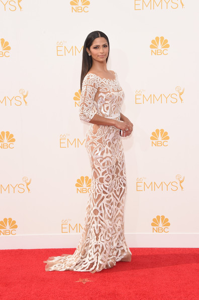 Model Camila Alves attends the 66th Annual Primetime Emmy Awards held at Nokia Theatre L.A. Live on August 25, 2014 in Los Angeles, California.