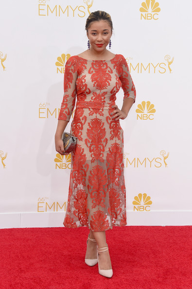 Actress Zoe Soul attends the 66th Annual Primetime Emmy Awards held at Nokia Theatre L.A. Live on August 25, 2014 in Los Angeles, California.