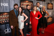 (L-R) Singer Dave Haywood of Lady Antebellum, Kelli Cashiola, musician Chris Tyrrell, singers Hillary Scott and Charles Kelley of Lady Antebellum and Cassie McConnell attend the 2014 American Country Countdown Awards at Music City Center on December 15, 2014 in Nashville, Tennessee.