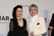 Nick Rhodes and Nefer Suvio  attend amfAR's 21st Cinema Against AIDS Gala Presented By WORLDVIEW, BOLD FILMS, And BVLGARI at Hotel du Cap-Eden-Roc on May 22, 2014 in Cap d'Antibes, France.