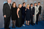 (L-R) Producers Jonathan Sehring, Sandra Adair, Cathleen Sutherland, actors Ellar Coltrane, Patricia Arquette, director Richard Linklater, actor Ethan Hawke and lawyer John Sloss attend the 20th annual Critics' Choice Movie Awards at the Hollywood Palladium on January 15, 2015 in Los Angeles, California.