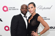 Actor Taye Diggs (L) and model Amanza Smith Brown attend the 23rd Annual Elton John AIDS Foundation Academy Awards Viewing Party on February 22, 2015 in Los Angeles, California.
