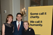 (L-R) Louise Miliband, IRC President and CEO David Miliband, and former Secretary of State Madeleine Albright attend the Annual Freedom Award Benefit hosted by  the International Rescue Committee at the Waldorf-Astoria hotel on November 6, 2013 in New York City.