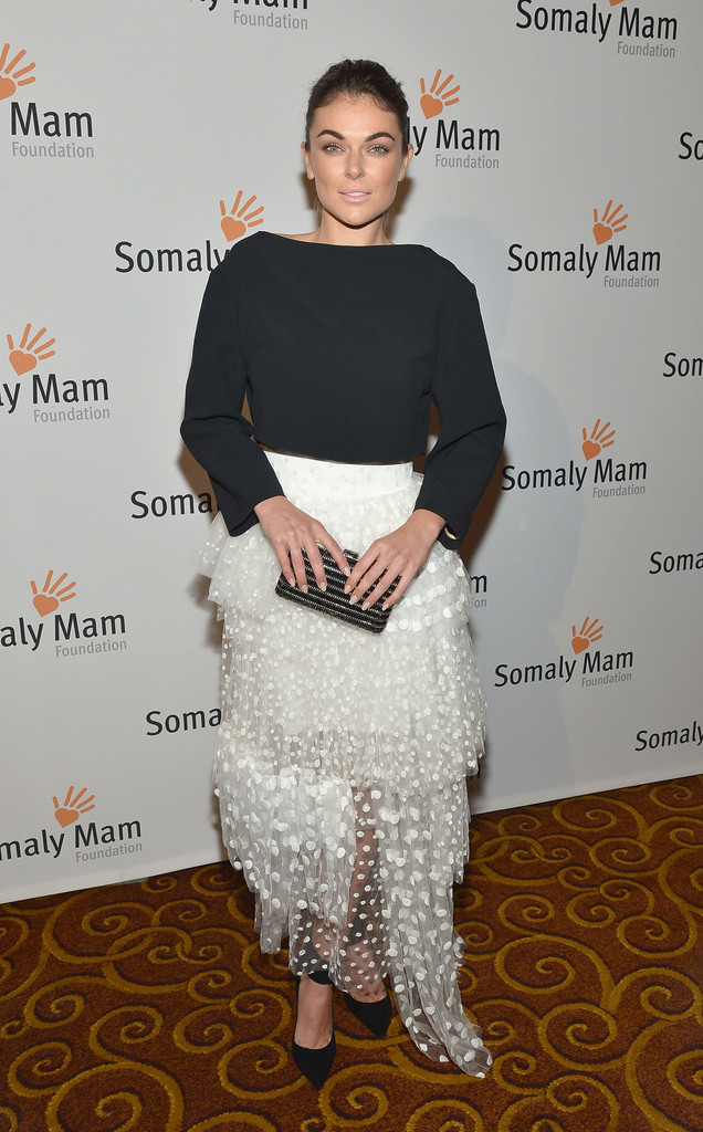 "Actress Serinda Swan attends the Somaly Mam Foundation Gala ""Life Is Love"" at Gotham Hall on October 23, 2013 in New York City."