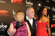 Patricia Riekel, Udo Walz and Barbara Becker attend the New Faces Award Film 2014 at e-Werk on May 8, 2014 in Berlin, Germany.