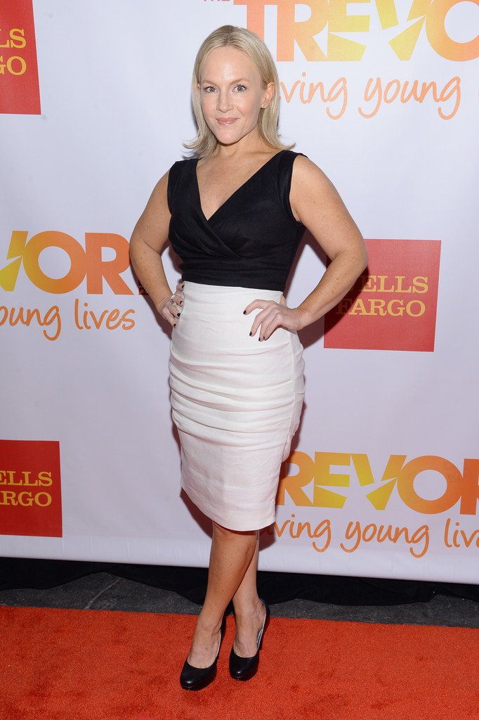 Rachael Harris in Arrivals at the 'TrevorLIVE NY' Event ... Rachael Harris Legs