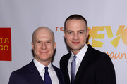 """Producer Richie Jackson (L) and President of Jujamcyn Theatres Jordan Roth attend the Trevor Project's 2014 """"TrevorLIVE NY"""" Event at the Marriott Marquis Hotel on June 16, 2014 in New York City."""