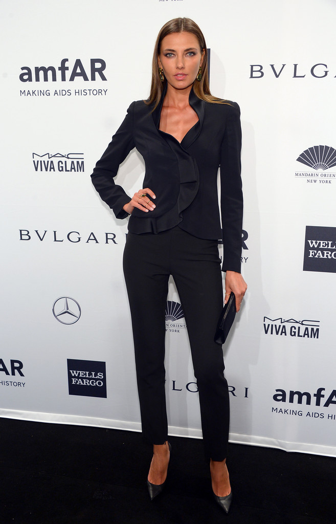 alina baikova photos photos arrivals at the amfar new