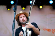 Musician Kevin Drew of musical group Broken Social Scene performs on the Sycamore stage during Arroyo Seco Weekend at the Brookside Golf Course at on June 24, 2017 in Pasadena, California.