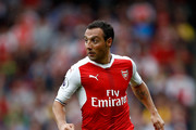 Santi Cazorla of Arsenal in action during the Premier League match between Arsenal and Southampton at Emirates Stadium on September 10, 2016 in London, England.
