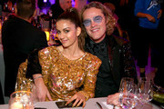 Natasha Poonawalla (L) and Peter Dundas attend Michael Muller's HEAVEN, presented by The Art of Elysium, on January 5, 2019 in Los Angeles, California.