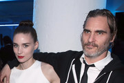 Rooney Mara (L) and Joaquin Phoenix attend Michael Muller's HEAVEN, presented by The Art of Elysium, on January 5, 2019 in Los Angeles, California.