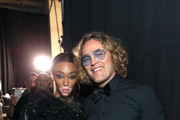 Winnie Harlowe (L) and Peter Dundas attend Michael Muller's HEAVEN, presented by The Art of Elysium, on January 5, 2019 in Los Angeles, California.