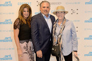 Pamela Cohen, Nick Korniloff and Beth Rudin DeWoody attend Art Miami VIP Preview, CONTEXT Art Miami VIP Preview at Art Miami Pavilion on December 4, 2018 in Miami, Florida.