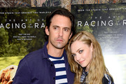 """Milo Ventimiglia and Amanda Seyfried attends """"The Art Of Racing In The Rain"""" New York Premiere at the Whitby Hotel on August 05, 2019 in New York City."""