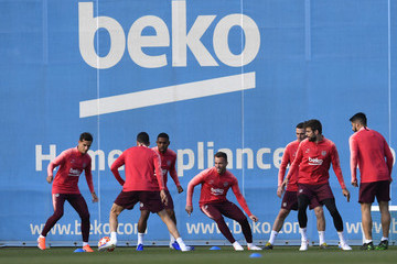 Arthur FC Barcelona Training and Press Conference