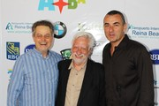 (L-R) Jonathan Demme, Claudio Masenza and Guiseppe Cioccarelli attend the event 'In Conversation with Jonathan Demme' on June 11, 2011 in Paseo Herencia, Aruba.