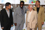 "(L-R) Jonathan Vieira, 50 Cent, Claudio Masenza and Giuseppe Cioccarelli attend the premiere of ""Things Fall Apart"" at the Aruba Film Festival on June 14, 2011 in Aruba, Aruba."
