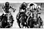 This image was processed using digital filters) Paul Hanagan riding Taghrooda (R, blue) win The King George VI And Queen Elizabeth Stakes at Ascot racecourse on July 26, 2014 in Ascot, England.