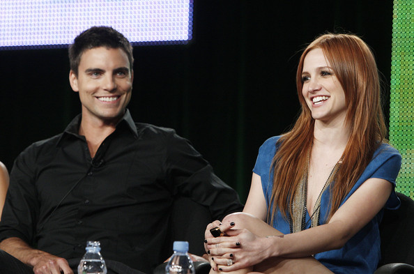 CW TCA Day Panels [melrose place,yellow,event,conversation,design,technology,photography,colin egglesfield,ashlee simpson-wentz,panels,portion,pasadena,california,cw,tca,l]