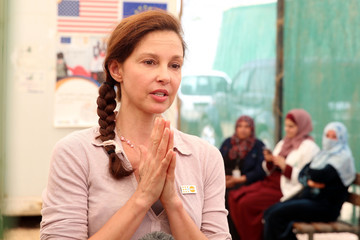 Ashley Judd UN Goodwill Ambassador Ashley Judd Visits Syrian Refugee Camp