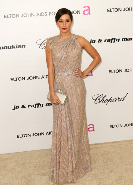 Ashley Tisdale Actress Ashley Tisdale arrives at the 19th Annual Elton John AIDS Foundation's Oscar viewing party held at the Pacific Design Center on February 27, 2011 in West Hollywood, California.