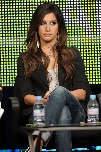Ashley Tisdale Actress Ashley Tisdale speaks onstage during the